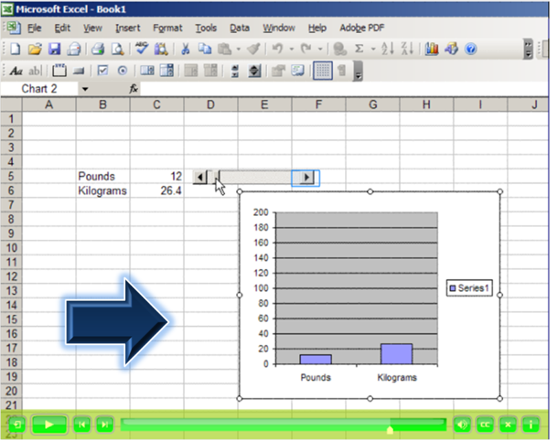 Excel interactive model lesson tool movie flash